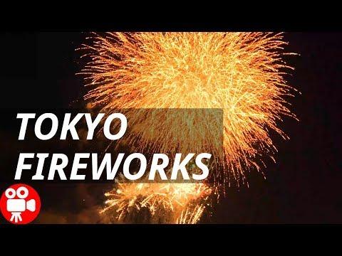 Tokyo Kouto Fireworks Display Summer Festival Event 2018 Japan - 4K 60FPS HDR