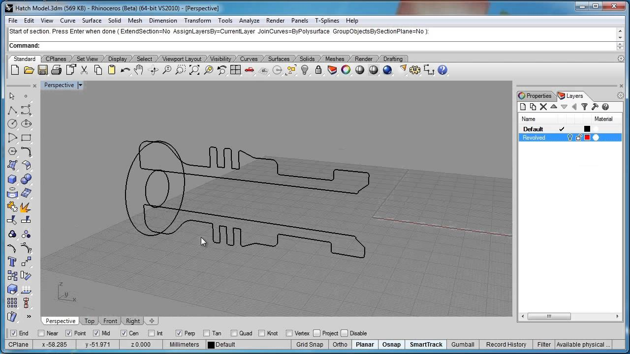 Advanced Rhino 5 Tutorial Creating Hatch Drawings Youtube