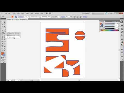 Illustrator CS5 Basics: Unserstanding the Erasure, Scissors, Knife tools in illustrator.