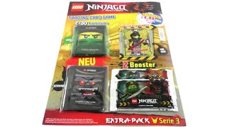 LEGO Ninjago Trading Card Game Serie 3 Extra Pack / unboxing