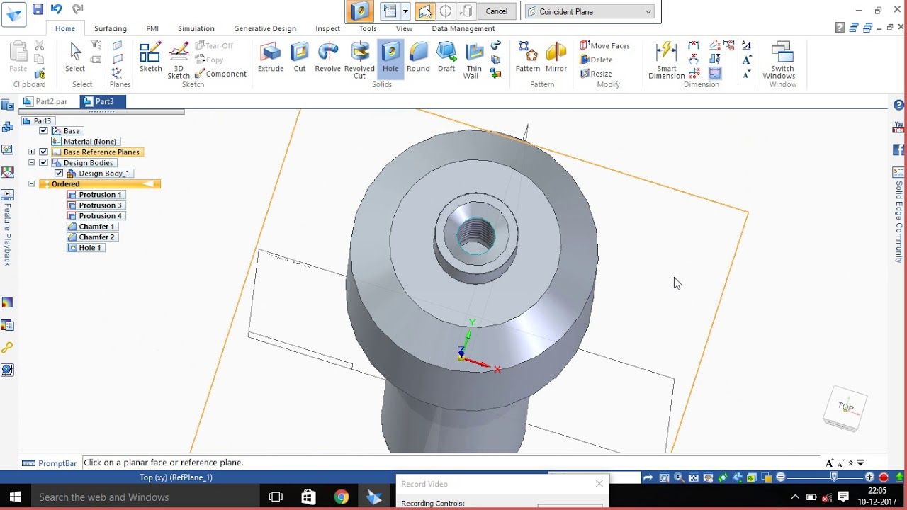 Screw jack spindle using solid edge s10 youtube screw jack spindle using solid edge s10 sciox Choice Image