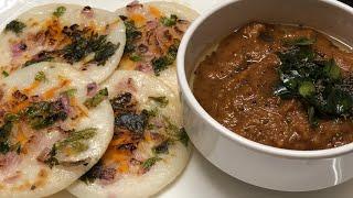 Mini vegetable uthappam with chinna vengaya chutney|vegetable uthappam|onion chutney|kids uthappam