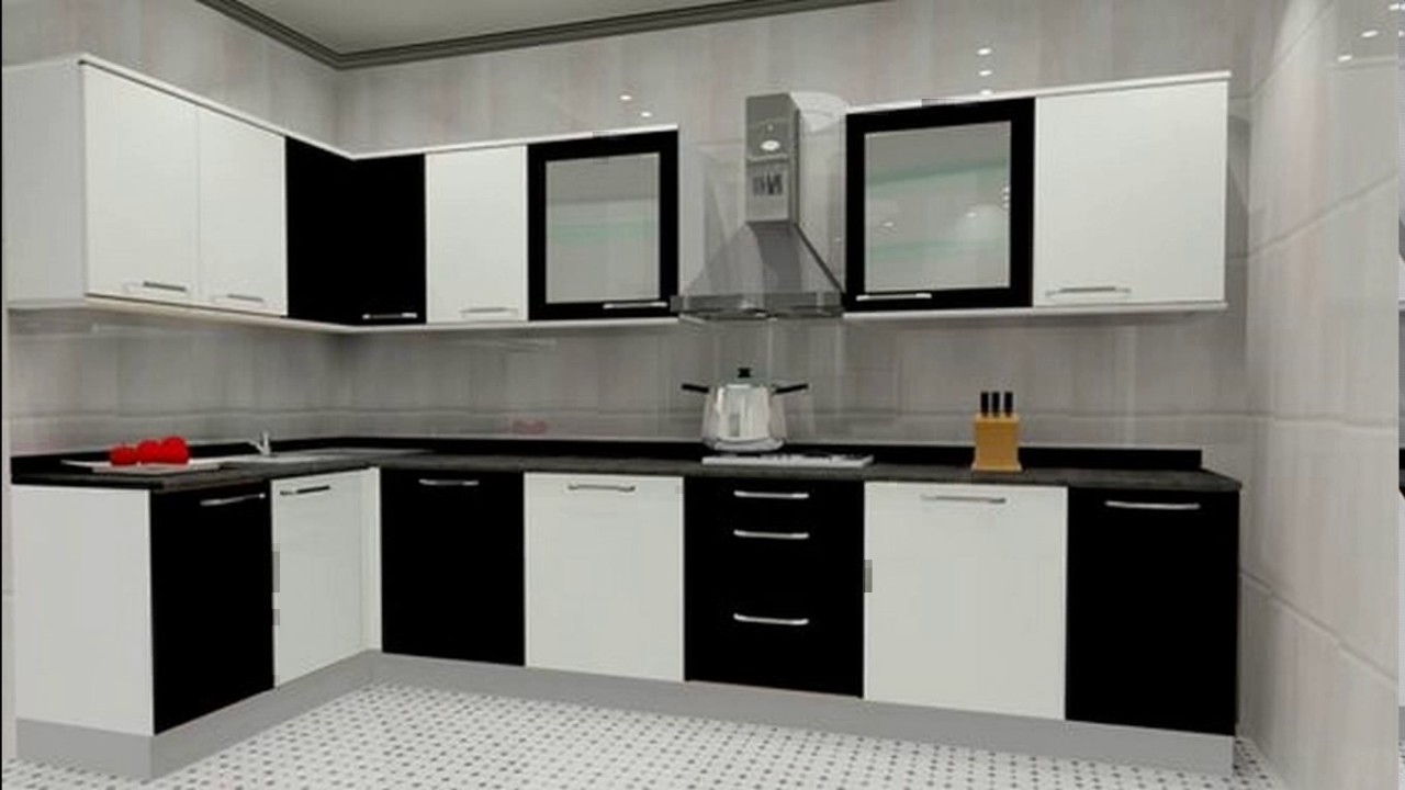 Small l shaped modular kitchen designs youtube Modular kitchen design colors