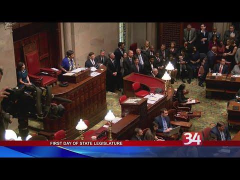New York State Legislature's first day