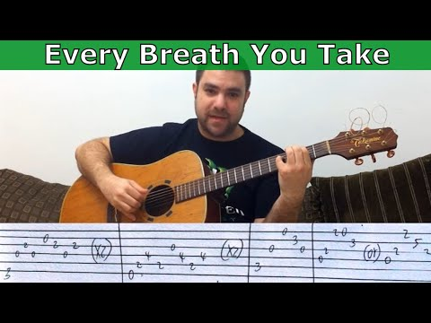 Fingerstyle Tutorial: Every Breath You Take - W/ TAB