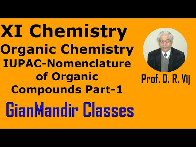 XI Chemistry - Organic Chemistry - IUPAC - Nomenclature of Organic Compounds Part-1 by Ruchi Ma'am