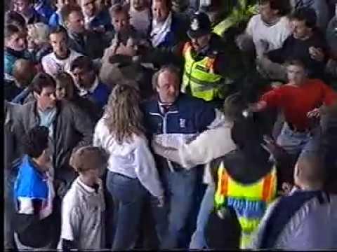 Football Hooligans, Bristol Rovers v WBA, Twerton Park, May 1991