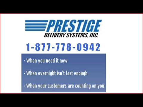 Prestige Delivery Systems provides  same day and next day delivery-logistics services