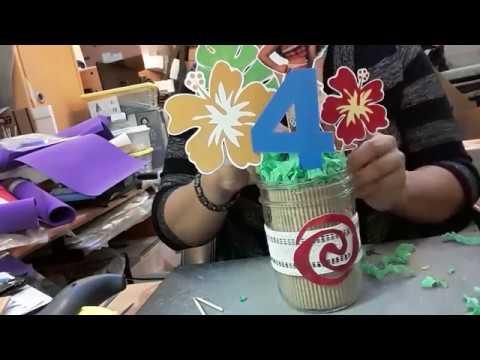 Diy Moana Centerpiece Youtube