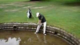 Golf Shot out of Water Hazard