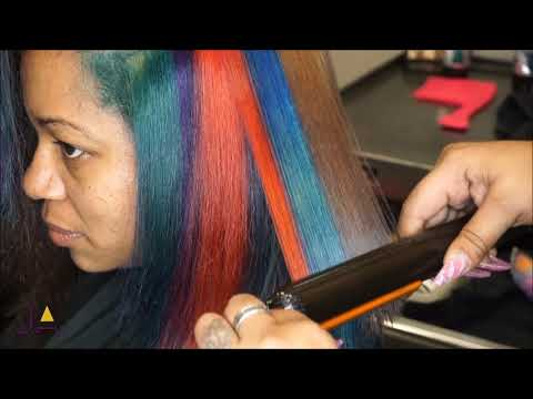 Hair Transformation Cut and Rainbow Color with Jasmine Ashley