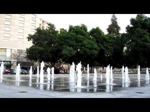 Plaza de Cesar Chavez Fountain San Jose California