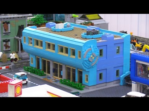 LEGO custom Blauhaus Building MOC in my city! - YouTube