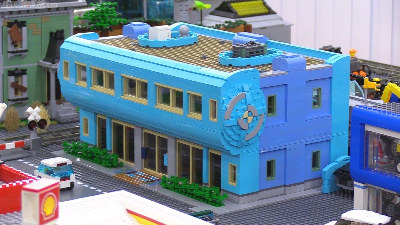 Lego Custom Blauhaus Building Moc In My City Youtube