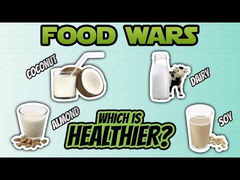 Food Wars - Coconut Milk vs Dairy Milk vs Soy Milk vs Almond Milk - Live Lean TV