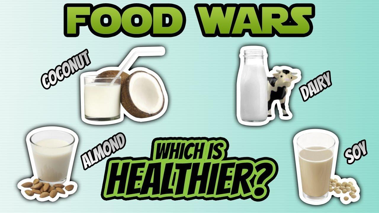 Coconut Milk vs. Almond Milk vs. Soy Milk vs. Dairy Milk (BEST MILK ...