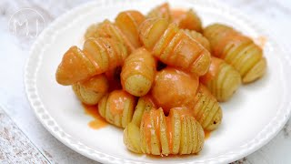 PATATAS BRAVAS HASSELBACK | Con salsa brava tradicional
