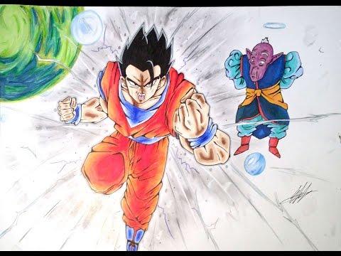 Drawing Mystic Gohan / Olympia Drawing Attacks