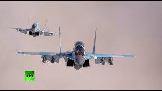 Испытания новейших истребителей МиГ-35 — видео