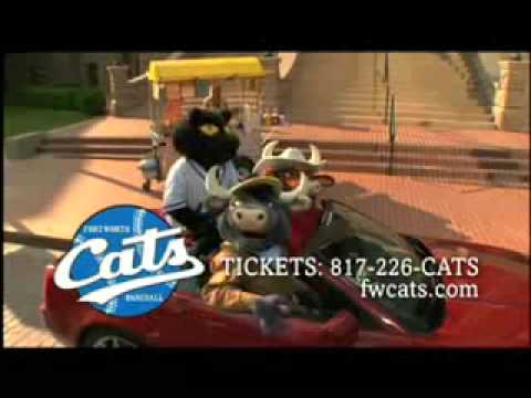 Fort Worth Cats Baseball Commercial Dodger and Moos Bros