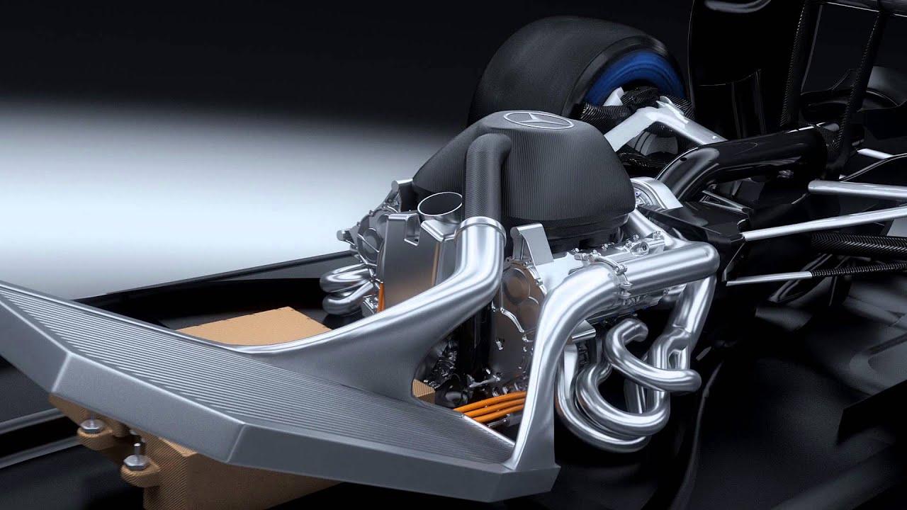 f1 2014 - mercedes amg - v6 turbo 3d animation (pu106a hybrid
