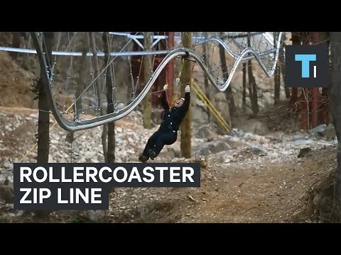 Thumbnail: You can ride this zip line like a rollercoaster