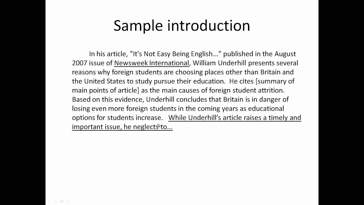 an introduction to the essay on the topic of baltimore Introduction to essay writing bronwen phillips: bmphillips@unsweduau  introduction basic steps in the essay writing process • research the topic.
