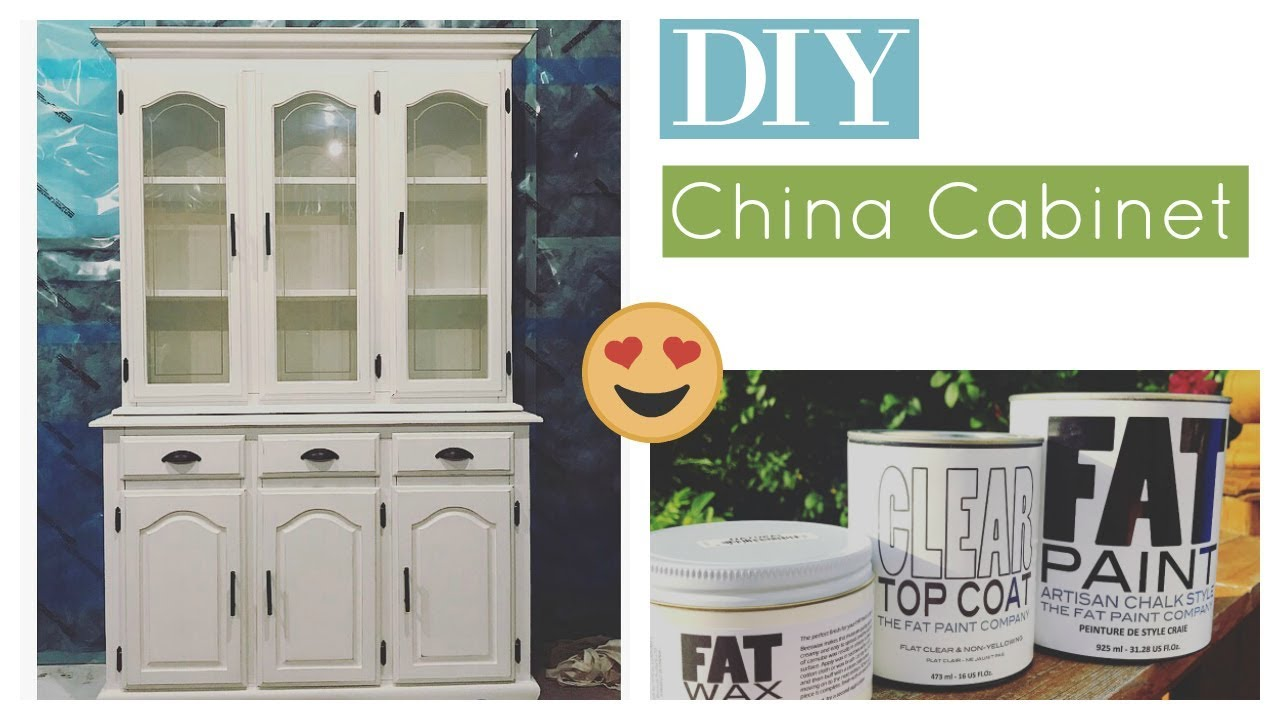 DIY: China Cabinet Makeover! How To Repaint Your Furniture.