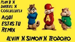 Aquí estas tu Remix Darkiel ft cosculluela,Alvin X simon X Teodoro