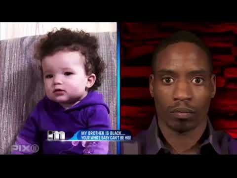 My brother is black... Your white baby can't be his! | The Maury Show