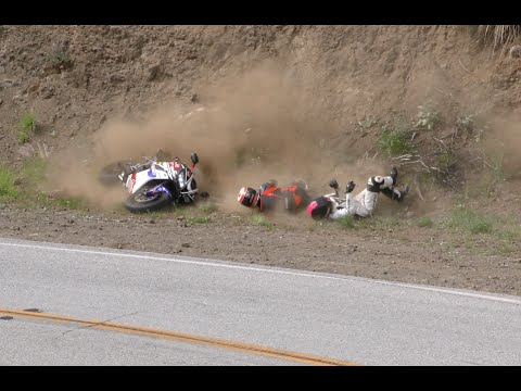 Streetbike Rider Crashes with Girlfriend on Mulholland Hwy. 4K UHD
