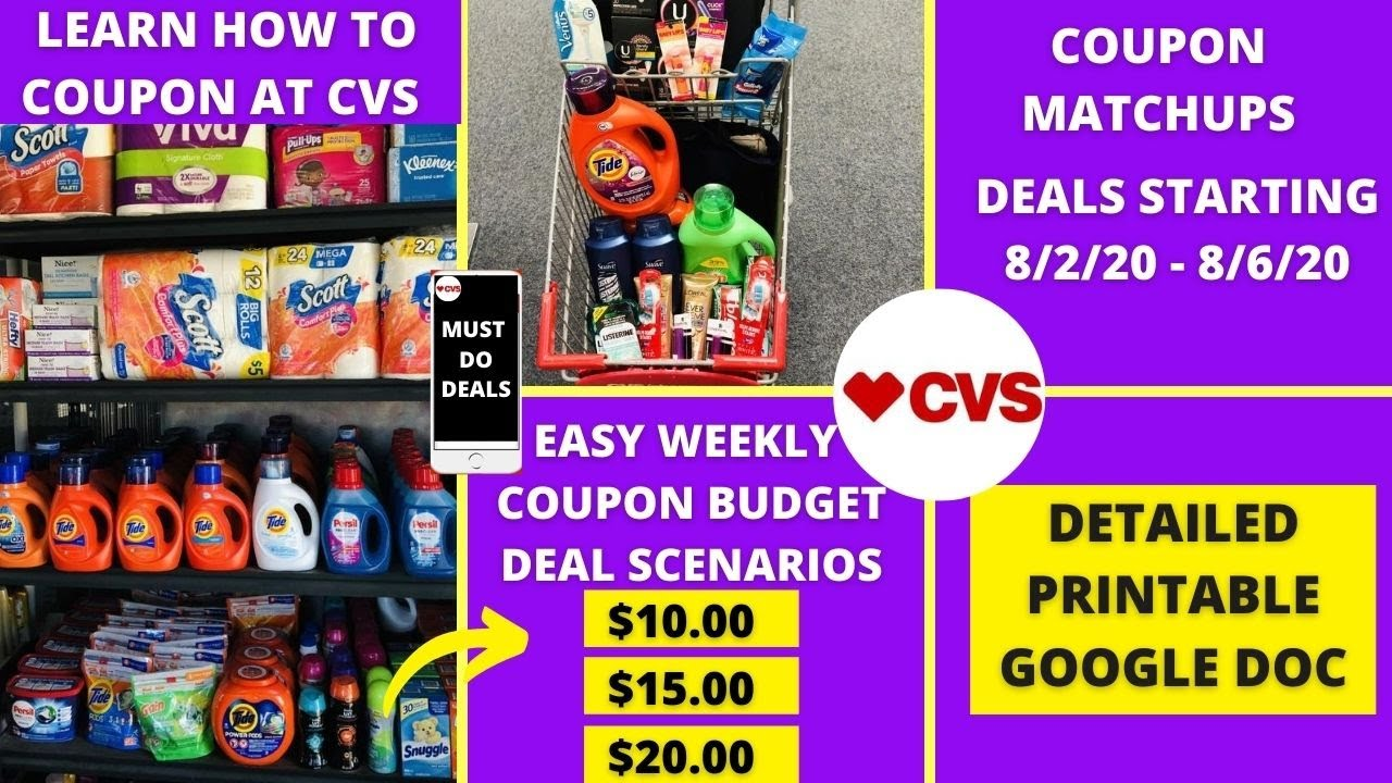 Cvs New Couponer Easy Deals 8 2 8 8 Cvs Coupon Matchups Easy Deal Breakdowns Youtube