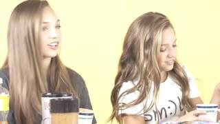 mackenzie ziegler smoothie challenge with maddie and saryna