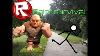 Roblox:gaint survival android gameplay funtage