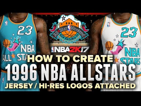 7e2a2d122e3 NBA 2K17 | 1996 NBA ALL STAR JERSEYS + COURT TUTORIAL BEST VERSION! HD LOGOS