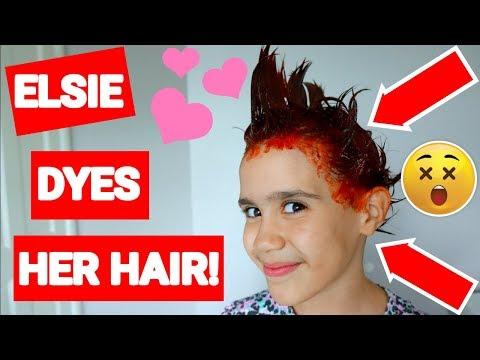 ELSIE DYES HER HAIR!😳 #19 VLOG