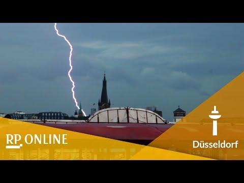 Kirmes in Düsseldorf 2017 wegen Unwetter unterbrochen
