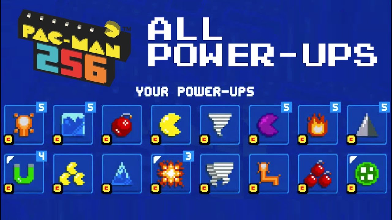 Pacman 256 All Power Ups Unlocked Gameplay Ios Android