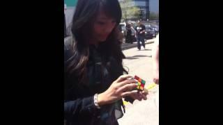 Celeste Anderson Solving Rubicks Cube