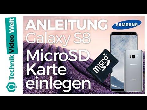 Bilder Auf Sd Karte Verschieben S8.Galaxy S8 Microsd Speicherkarte Einsetzen Youtube