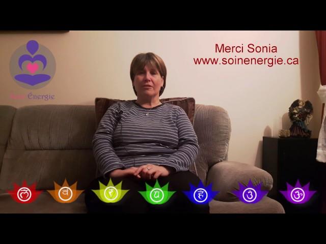 Médecine Énergétique    Merci pour ton témoignage Sonia