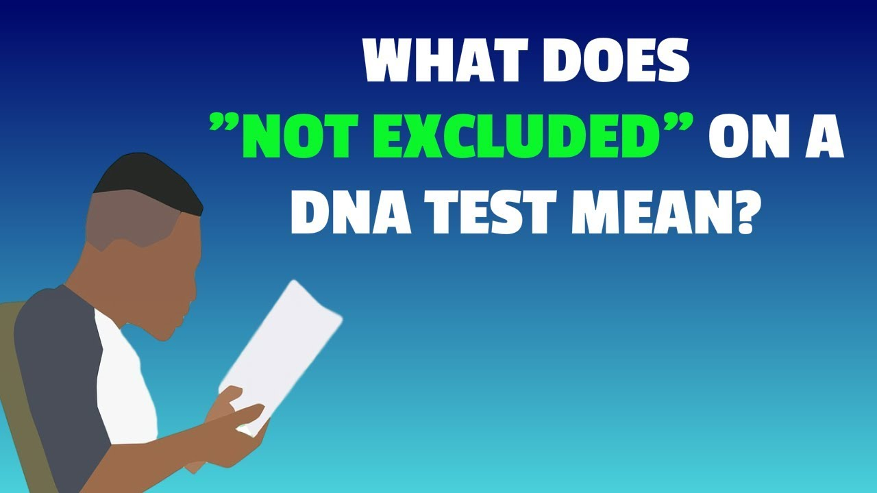 Not Excluded Means DNA Test | What Does My Paternity Test