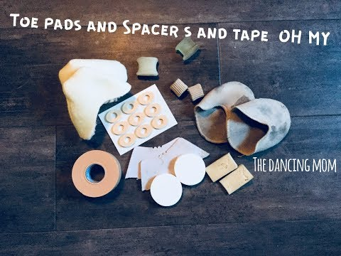 Review of Toe Pads and Toe Spacers For Pointe Shoes