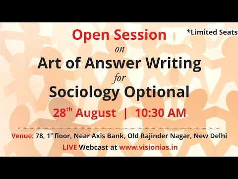 Open Session on Art of Answer Writing for Sociology Optional