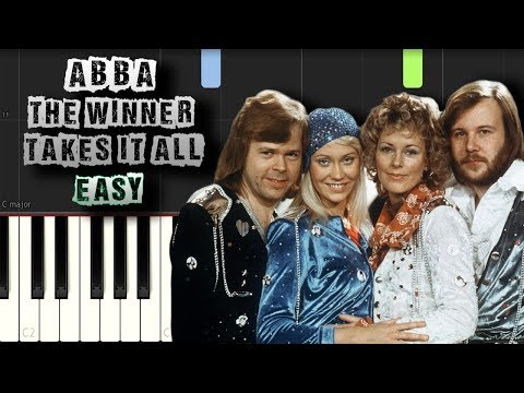 Abba - The Winner Takes It All - EASY - Piano Tutorial Synthesia (Download MIDI)