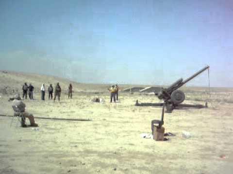 Me firing D30 - 122mm.MOV