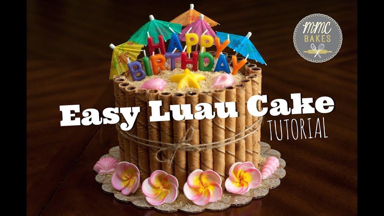 EASY LUAU CAKE TUTORIAL