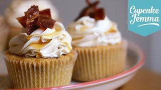 Maple & Bacon Cupcake Recipe | Cupcake Jemma