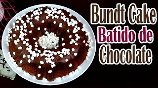 Bundt cake de batido de chocolate