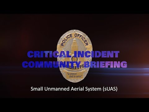 Community Briefing - small Unmanned Aerial System